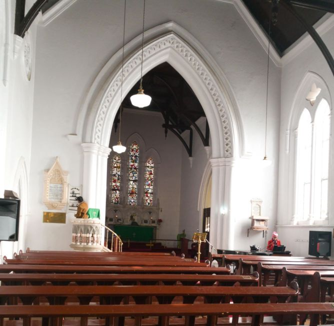 Murree Kirche innen Probe